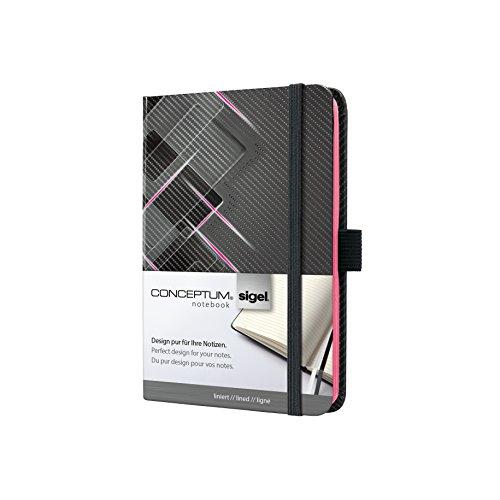 Sigel CO631 Taccuino CONCEPTUM, motivo Drive, copertina rigida, 194 pagine a righe, circa A6, neon rosa