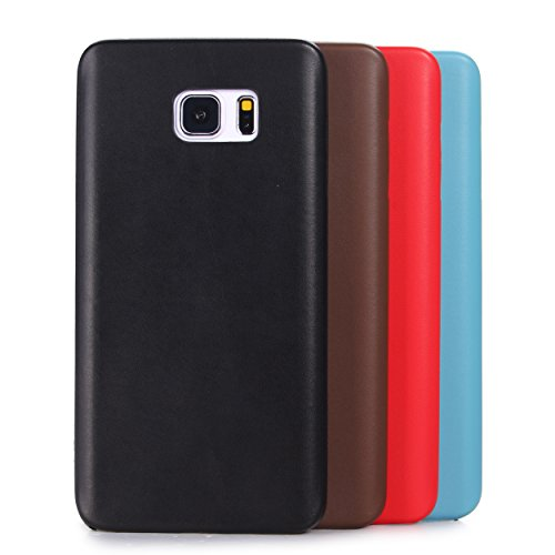 Edle Schutzhülle aus Kunstleder Hülle Schale Cover Case Cover von Liamoo® (iPhone 6 / 6s Plus, rot) babyblau