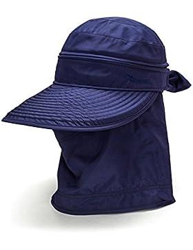 swall owuk Mujer sol Tapa protectora con cuello Protección 360° sol playa sombrero transpirable y secado rápido...