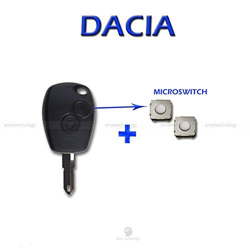 Schale SCHALE + Messer + micropulsanti Fernbedienung Schlüssel 2Tasten Dacia Logan Duster mit Microswitch