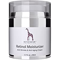 MOTHER NATURE COSMETICS Mother Nature - Retinol Cream 50ml - High Strength Moisturizer - Against Acne, Cellulite, Deep Wrinkles, Dark Spots and Signs of Aging | For Men & Woman - For Day & Night (Beauty)