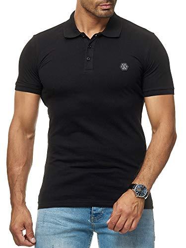 Red Bridge Herren Poloshirt Basic Polo T-Shirt Kurzarm Baumwolle M1304 Schwarz S -