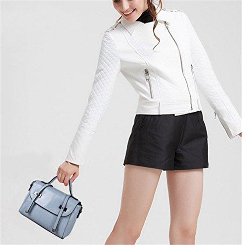Xinmaoyuan Borse donna Borsette in pelle Borsette donna casual spalla Messenger Piccola Piazza Borsa Blue