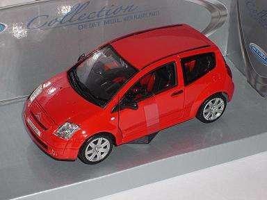 Citroen C2 C 2 Rot Red 1/24 Welly Modellauto Modell Auto