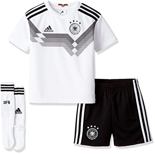 adidas Kinder Dfb Heim Minikit WM 2018 Trikot & Shorts, White/Black, 110