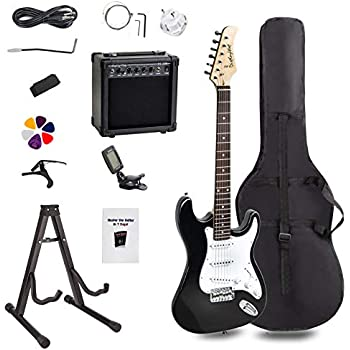 display4top full size electric guitar most complete beginner super kit package with 20 watt. Black Bedroom Furniture Sets. Home Design Ideas