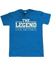 Vectorbomb, The Legend A Pris Sa Retraite, Hommes Drôles retraite T Shirt (Du S au 5XL)
