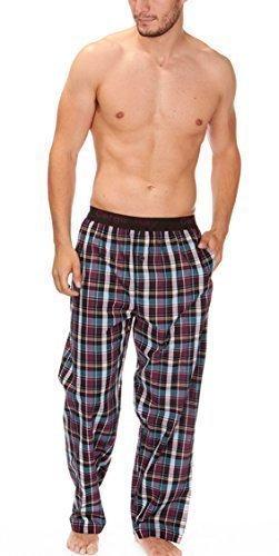 Herren Gewoben Freizeithose Schlafanzug Pyjama Hose Karierter Flanell Pyjama PJS S-XL - LILA KARIERT 31B248, X-Large (Flanell-pyjama Herren Für)