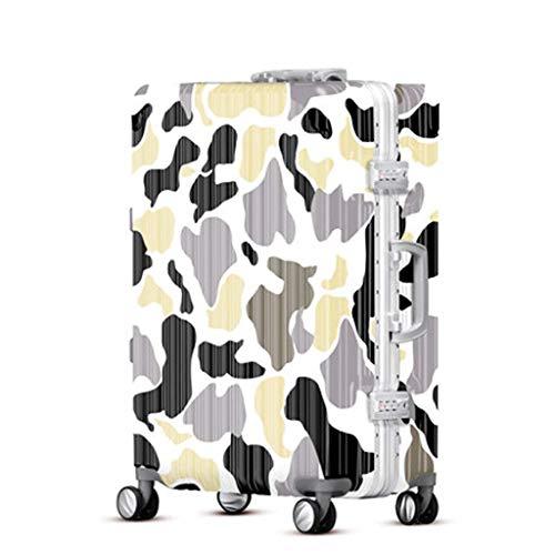 Neu ABS Leichter Koffer Trolley, Camouflage Reisekoffer Handgepäck Hartschalen Schüler Reisetasche Durable 4 Spinner Wheels Rollkoffer E-28 inches - Expandable Trolley Case