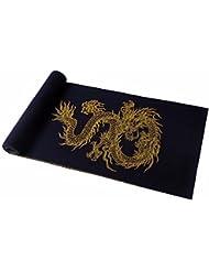 MZMZ ULTRA apretado el cuello BMBAI cálido-hombres del pañuelo rojo chino Dragón de otoño e invierno wooler bufanda bufandas de lujo, negro