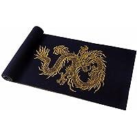 MZMZ ULTRA ADERENTE SCALDACOLLO BMBAI-uomini della sciarpa cinese drago rosso di autunno e inverno wooler sciarpa sciarpe di lusso, nero