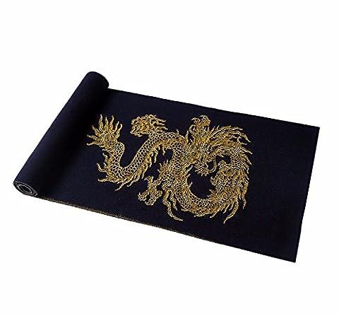 MZMZ BMBAI ULTRA SNUG NECK TEE-Männer der Schal chinesischen Roten Drachen der Herbst und Winter wooler Luxus schal schals, Schwarz