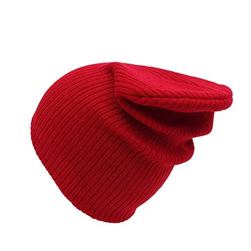 LLCP Herren-und Damenwolle gestrickte Hüte, Reine Farbe Herbstumn/Winter warme Ohrenschützer hat Outdoor-Sportarten Skitouren verschwitzt atmungsaktive ()