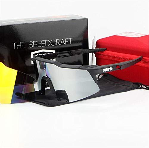 Pkfinrd Extremsport-Sonnenbrille mit UV400-Schutz und unzerstörbarem Gestell für Herren Outdoor-Sportarten Angeln Skifahren Golf Laufen Radfahren Camping@Voller Schwarzweiss-Standard
