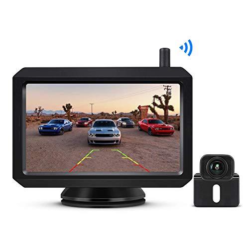 """BOSCAM K7 Drahtlos Digital Rückfahrkamera Set mit Eingebautem Funksender, 5\"""" LCD Monitor, Kabellose Einparkhilfe, IP68 wasserdichte Kamera, Nachtsicht für Kfz, SUV, Van, Campingbus, Anhänger"""