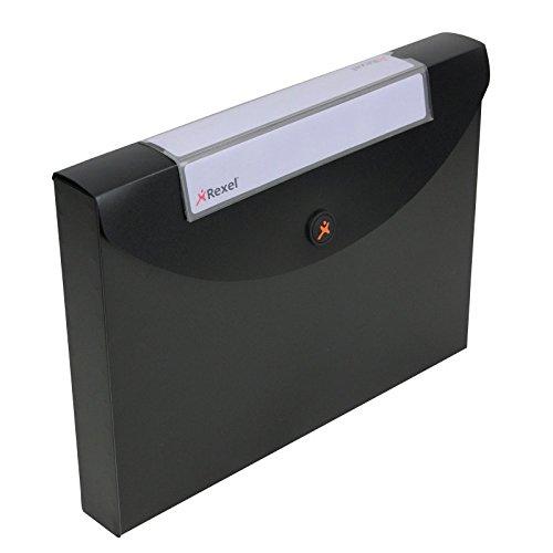 Rexel Optima Dokumentenhülle Polypropylen Magnetverschluss für 400 Blatt 40 mm A4 schwarz