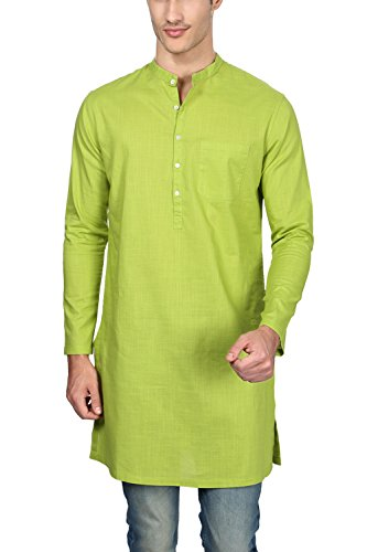 Peter England Men's Knee Long Cotton Kurta