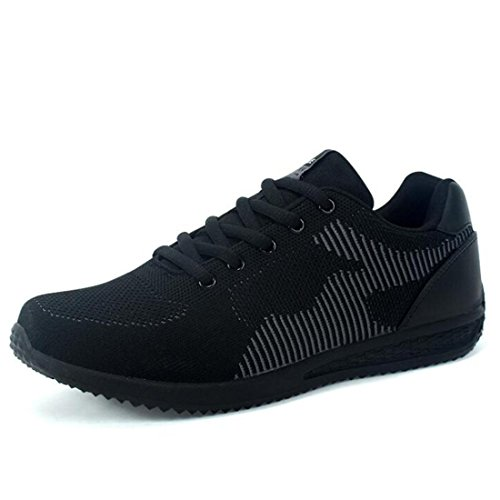 Chaussures Décontractées Respirantes Pour Hommes En Tissu Respirant Joker Sneaker En Rembourrage Noir Léger