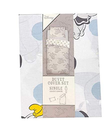 Primark Disney Dumbo Wendebettwäsche-Set für Einzel- oder Doppelbett, Single 135X200CM (Bettwäsche Disney Einzel)