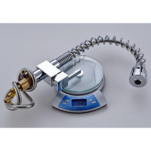 Auralum® 360°drehbar Mischbatterie Küchenarmatur Waschtischarmaturen Wasserhahn mit herausziehbarem Brausekopf Armatur -