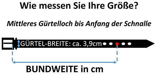 Trachtengürtel Original Trachtenkönig Unisex zur Lederhose Hirsch Kürzbar (95 cm, Hellbraun (Vollrindleder))_TK02_02_95 - 4