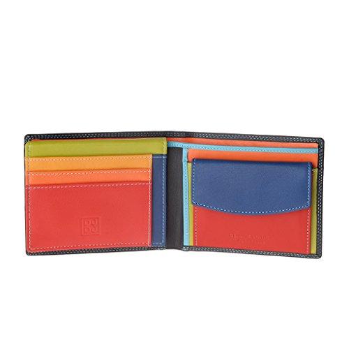 portafoglio-multicolore-in-pelle-classico-da-uomo-firmato-dudu-nero
