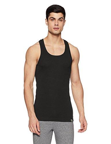Jockey Men's Cotton Vest (9922-0105-BLACK Black M)