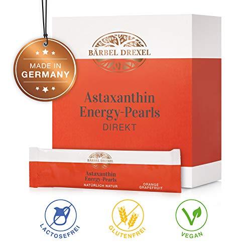 BÄRBEL DREXEL Astaxanthin Energy Pearls DIREKT Pulver Vegan Premium Energy Hochdosiert (28x 2,5g Stk) 100{55b8e745a891b063d817ecd7c23fabeae420af770c590eb65356451df4054460} Vegane Herstellung Deutschland Antioxidant Microalge Haematococcus Pluvialis Hawaii