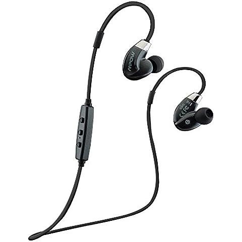 Mpow Seal Airflow Auriculares Deportivos Bluetooth 4.0, Tecnología CVC Reducción y 6.0 RuidoAptX, para Correr y Hacer Ejercicios. Compatible con iPhone 6/6s y Huawei P9 Android Moviles