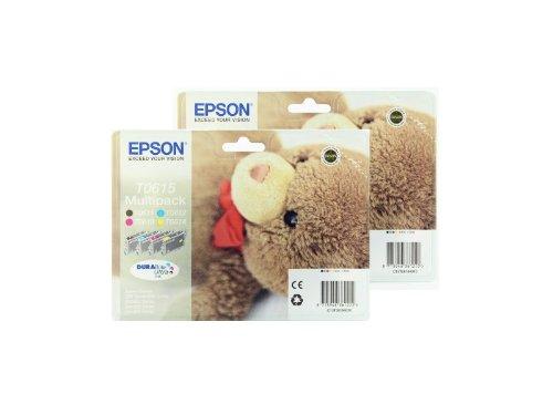 Preisvergleich Produktbild Epson T0615 x2 2 x Tintenpatronen Original Multipacks 8 gesamt, gemischt