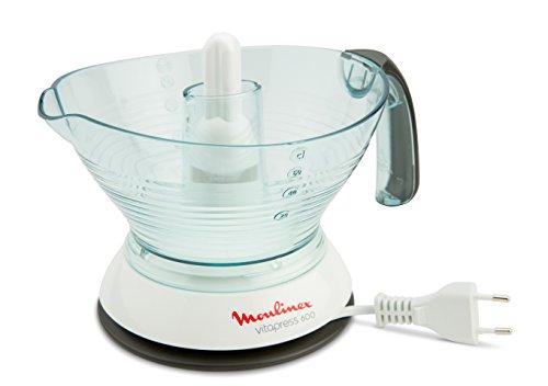 Moulinex PC300B10 Exprimidor con Doble Filtro Extraíble, Jarra Transparente Desmontable de 0.6 L, 25 W, plástico, Blanco, Negro