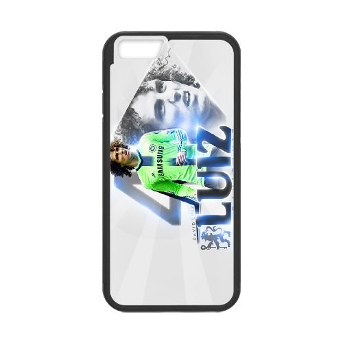 David Luiz coque iPhone 6 4.7 Inch Housse téléphone Noir de couverture de cas coque EBDXJKNBO13184