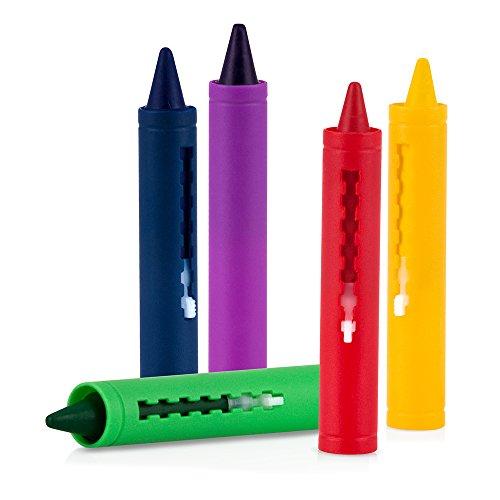 nuby id6156 - pack 5 lápices para la bañera