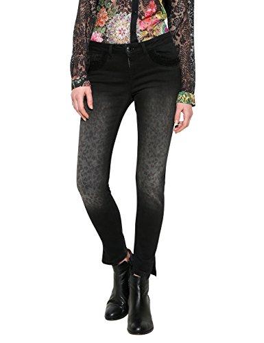 Desigual Damen Slim Jeans Denim_Second Skin Gold, Blau (Black 5009), W28 Preisvergleich