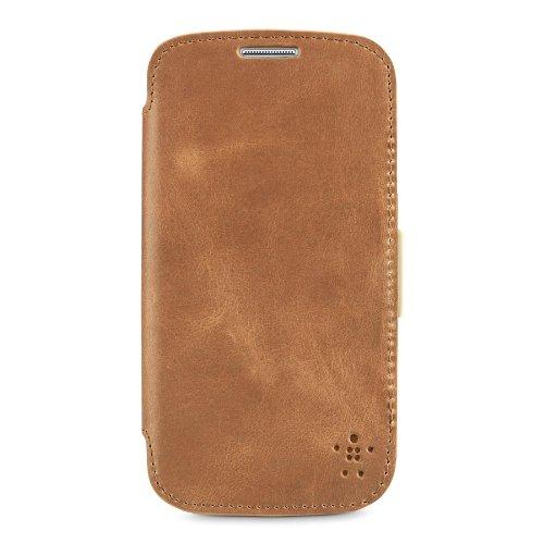 Belkin Premium Leder Folio für Samsung Galaxy S4 braun -