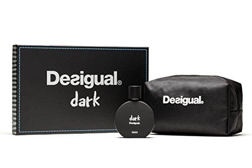 Desigual Parfum Set Dark Eau de Toilette Spray mit Tasche, 50 ml - Eau-de-toilette-spray-tasche