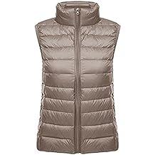 Ake Mujer Ultra-Light Chaleco de Pluma Down Puffer Chaquetas Windproof Coat