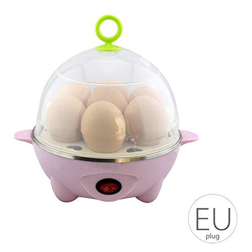 Babysbreath17 YS-603 7 Ei Kapazität elektrische Ei-Kocher-Dampfkessel-Hersteller Wilderer-Dampfer EU-Stecker 350W AC220V/50Hz Rosa