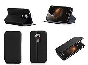 Etui luxe Huawei G8 Ultra Slim noir Cuir Style avec stand - Housse coque de protection pour Huawei Ascend G8 Dual Sim noire - Prix découverte accessoires pochette XEPTIO : Exceptional case !
