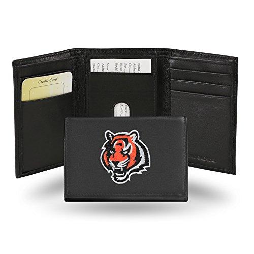 Unbekannt NFL Cincinnati Bengals Bestickt echtes Rindsleder Leder Trifold Wallet - Rindsleder Tri-fold Wallet