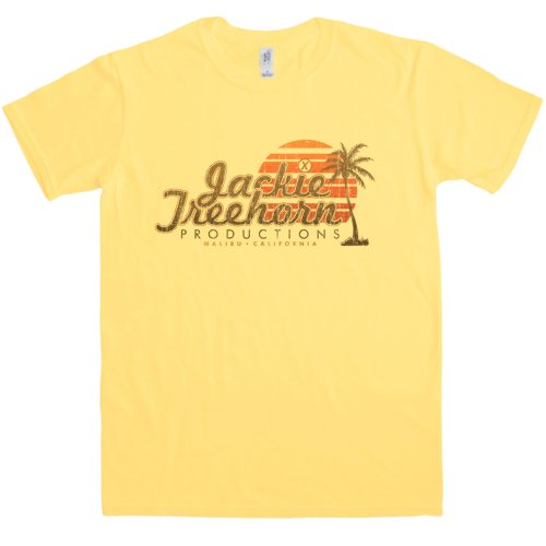en Jackie Treehorn Productions T Shirt - Medium - Yellow haze (Jesus Big Lebowski)