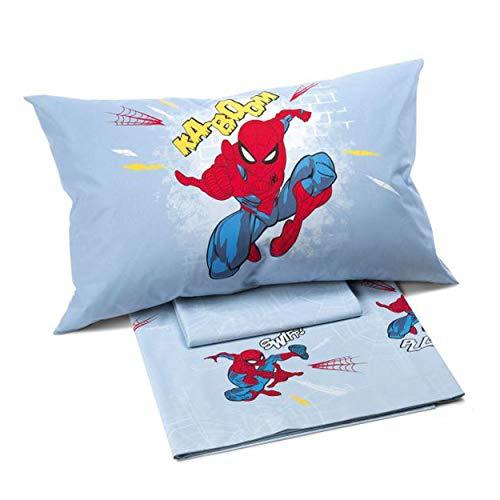 Caleffi Bettwäsche-Set für Einzelbett, Motiv: Spiderman Time, für Einzelbett