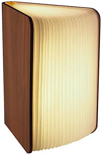 Gadgy ® Buchlampe (Groß) mit Magnetverschluss l Hohe Qualität Tyvek Papier l Leuchtet in 3 Farben l Unbegrenzte Darstellungsmöglichkeiten bis zu 360 Grad.