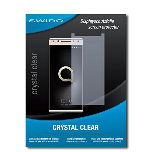 SWIDO Bildschirmschutz für Alcatel 5 [4 Stück] Kristall-Klar, Hoher Härtegrad, Schutz vor Öl, Staub & Kratzer/Schutzfolie, Bildschirmschutzfolie, Panzerglas Folie
