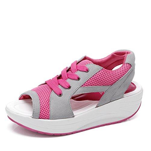 Donne sandali fashion/Mesh traspirante scarpe/ alte scarpe casual-C Lunghezza piede=23.3CM(9.2Inch)