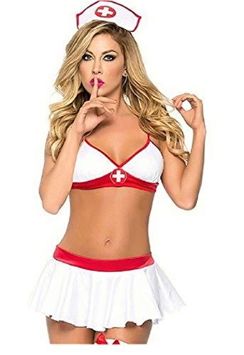Sexy Cosplay Indossare Abiti da Sera Uniforme del Costume Erotico della Biancheria Intima dell'infermiera di Cosplay delle Donne per Party Feste Musicali Halloween Carnevale Mascherata