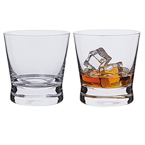 Dartington Bar Excellence Whisky Rocks Glass, Clear, Pack of 2