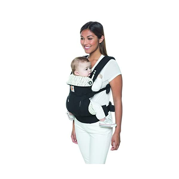 Ergobaby Baby Carrier up to 3 Years (12-45 lbs) 360 Downtown Design, 4 Ergonomic Carry Positions, Front Facing Baby Carrier, Child Carrier Backpack Ergobaby Ergonomic baby carrier with 4 ergonomic carry positions: front-inward, back, hip, and front-outward. The carrier is suitable for babies and toddlers weighing 5.5-20 kg (12-45 lbs), and can be used as a back carrier. Also with insert for newborn babies weighing 3.2-5.5 kg (7-12 lbs), sold separately. NEW - The waistbelt with lumbar support can be worn a little higher or lower to support the lower back and provide optimal comfort, and has adjustable padded shoulder straps. The carrier is suitable for men and women. Maximum baby comfort - The structured bucket seat supports the correct frog-leg position for the baby. The carrier also has a padded, foldable head and neck support. Ergobaby carriers are a new take on the usual baby sling. 9