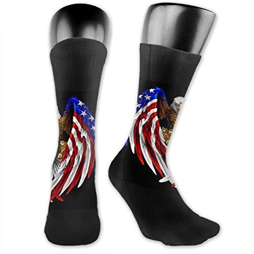 America Flag Bald Eagle Socks is Best Graduated Athletic & Medical for Men & Women, Running, Flight, Travels Women's Socks -