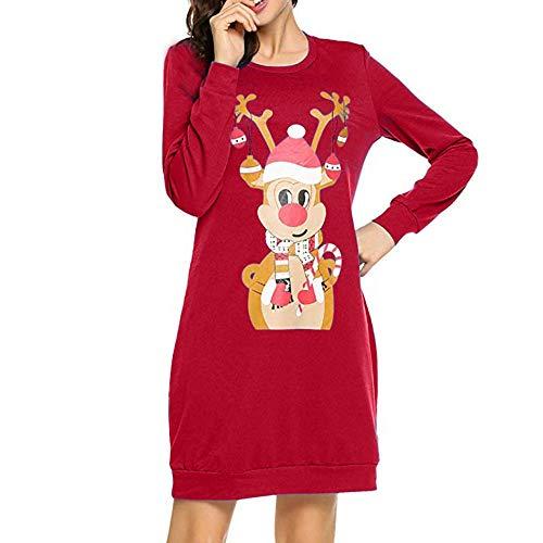 (Aberimy Weihnachten Kleid Damen Ärmellose Elegant AFFE Charakter Drucken Cocktailkleid Abendkleid Sommerkleider Spitzenkleid Frauen Verein Partykleid Vintage A-Linie Kleid Retro Abend Prom Swing)
